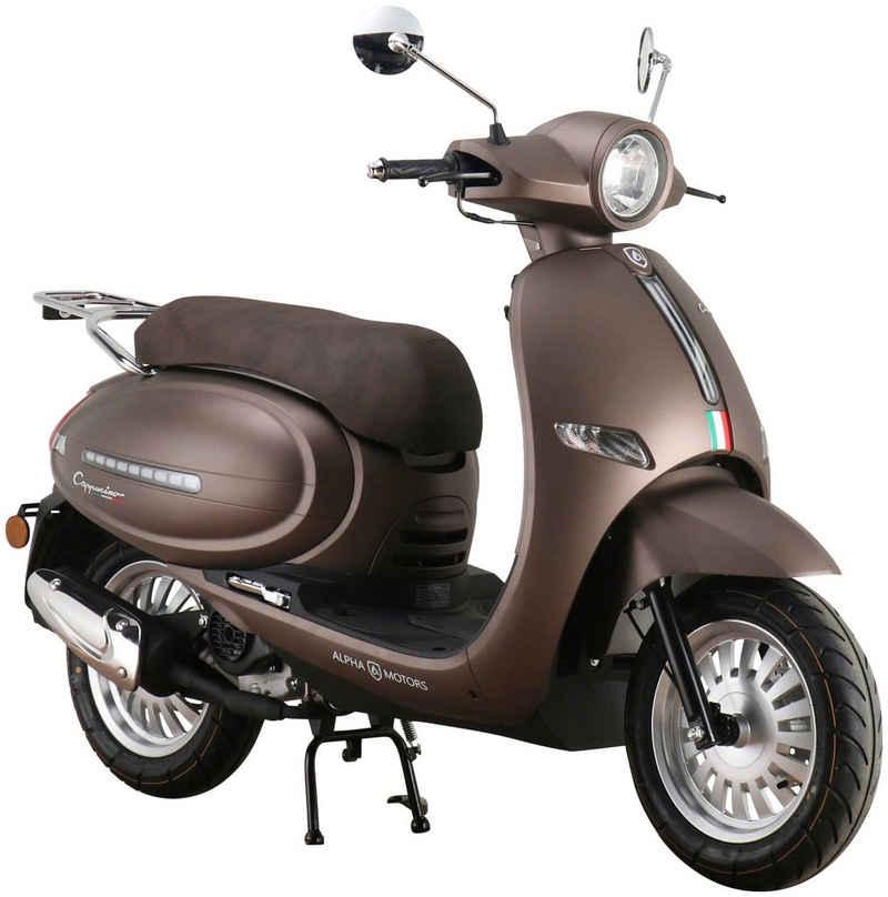 Alpha Motors Motorroller »Cappucino«, 50 ccm, 45 km/h, Euro 5, mattbraun
