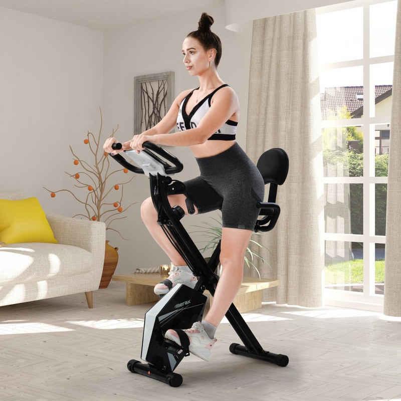 Merax Speedbike »Merax Fittness Speedbike Mit Bildschirm, Höhenverstellbar und Arm Widerstandsbändern für Indoor-Training«