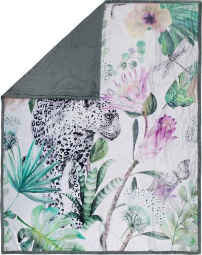 Plaid »Volterra«, Happiness, mit Leopard