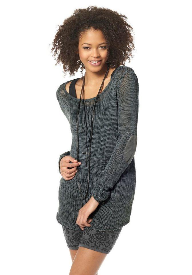 AJC Pullover aus transparenter Qualität in dunkelgrau