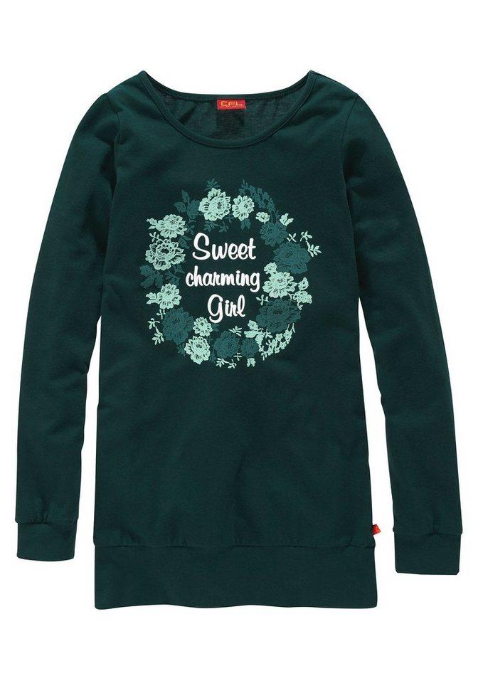 CFL Langarmshirt, für Mädchen in Petrol