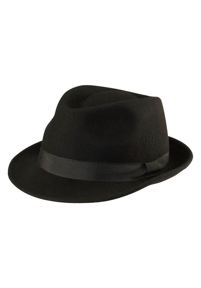 J. Jayz Trilby mit leicht glänzendem Hutband in schwarz