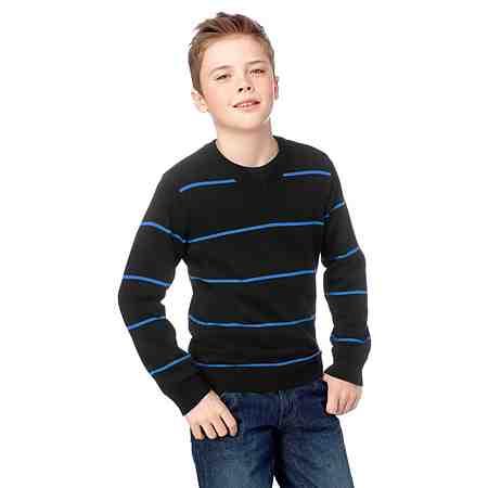CFL V-Ausschnitt-Pullover mit modischen Ringelstreifen