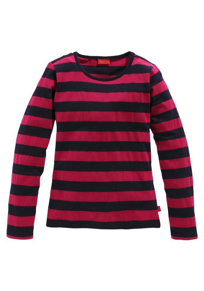 CFL Langarmshirt für Mädchen in Rot-Schwarz