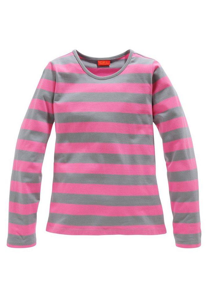 CFL Langarmshirt für Mädchen in Pink-Grafit