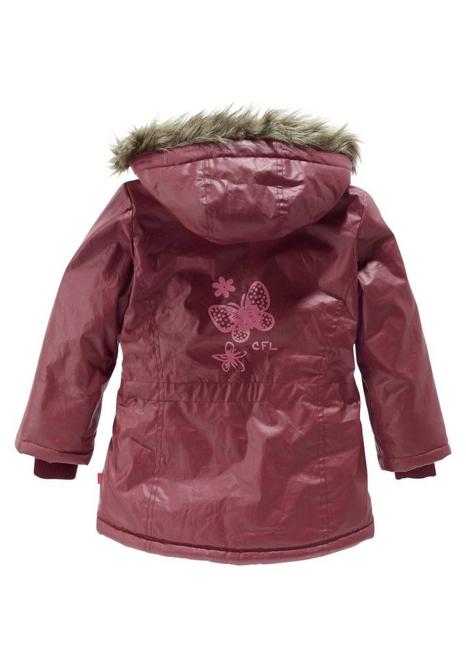 CFL Outdoorjacke mit tollem Rückendruck in bordeaux