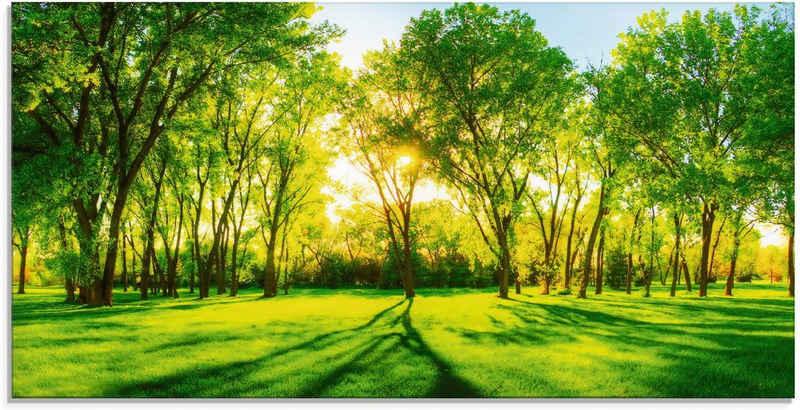 Artland Glasbild »Frühlingswärme II«, Wiesen & Bäume (1 Stück)
