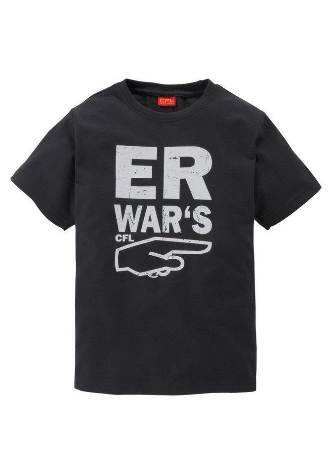 """CFL T-Shirt """"Er war's"""" in schwarz"""
