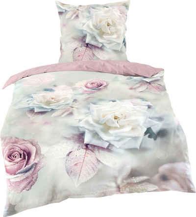 Bettwäsche »Big rose«, BIERBAUM, mit Rosen