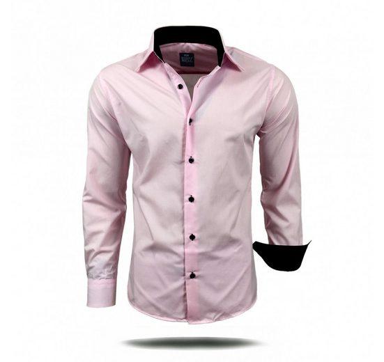 Schlussverkauf Rusty Neal Langarmhemd mit farblich abgesetzten Elementen