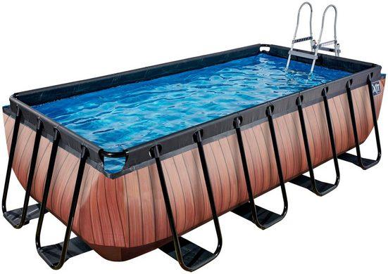EXIT Framepool (Set), BxLxH: 200x400x100 cm, mit Sandfilter