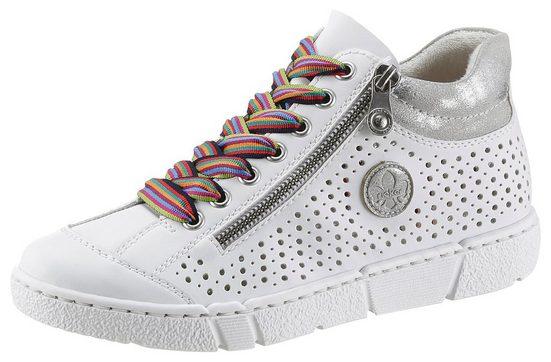 Rieker Sneaker mit luftdurchlässiger Perforation