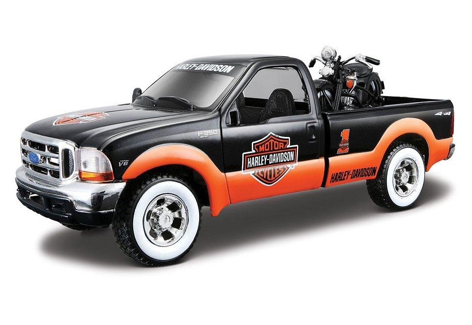 Modellauto-Set, Maisto®, »Harley Davidson:« in schwarz