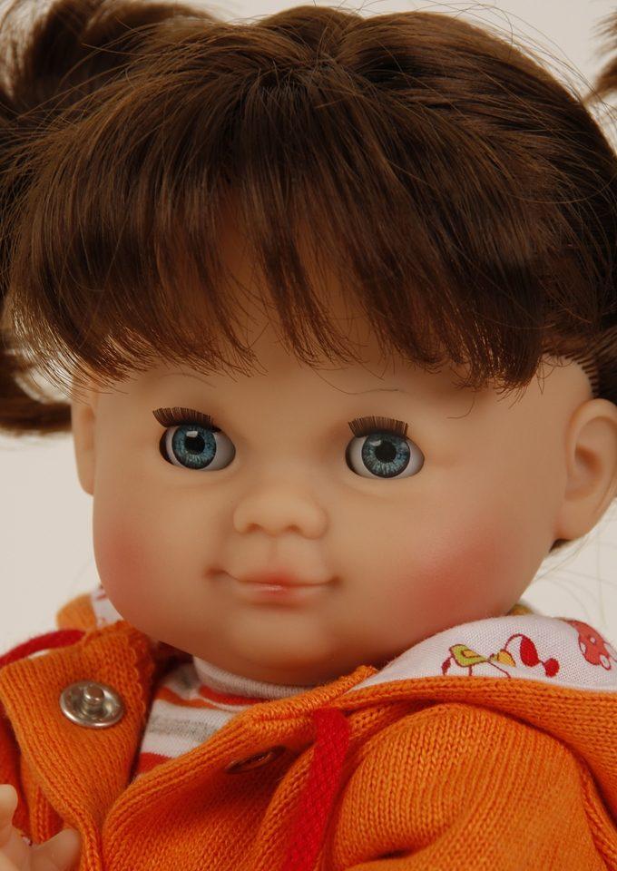 Puppe, Schildkröt-Puppen, »Schlummerle, 32 cm, braune Haare, mit Zöpfen«