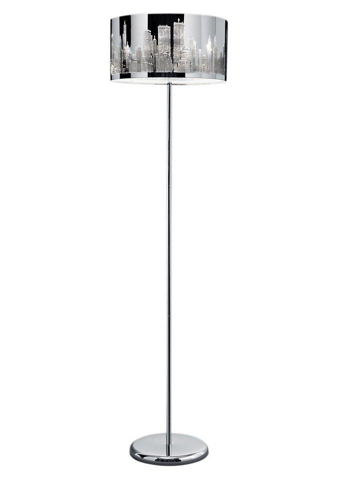 Moderne Stehlampe, Trio (2flg.) in silberfarben