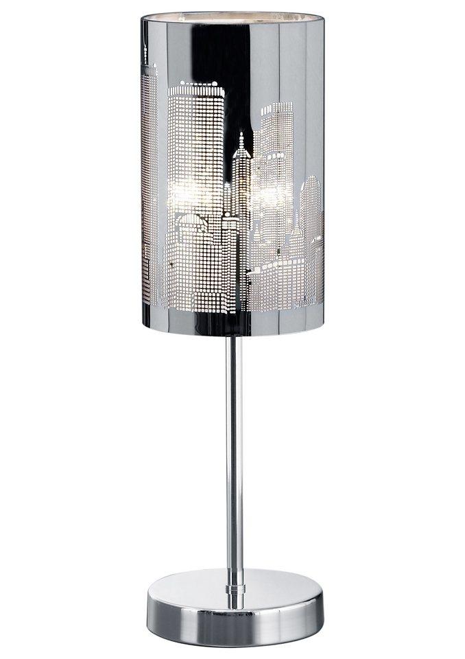 Moderne Tischlampe, Trio (1flg.) in silberfarben