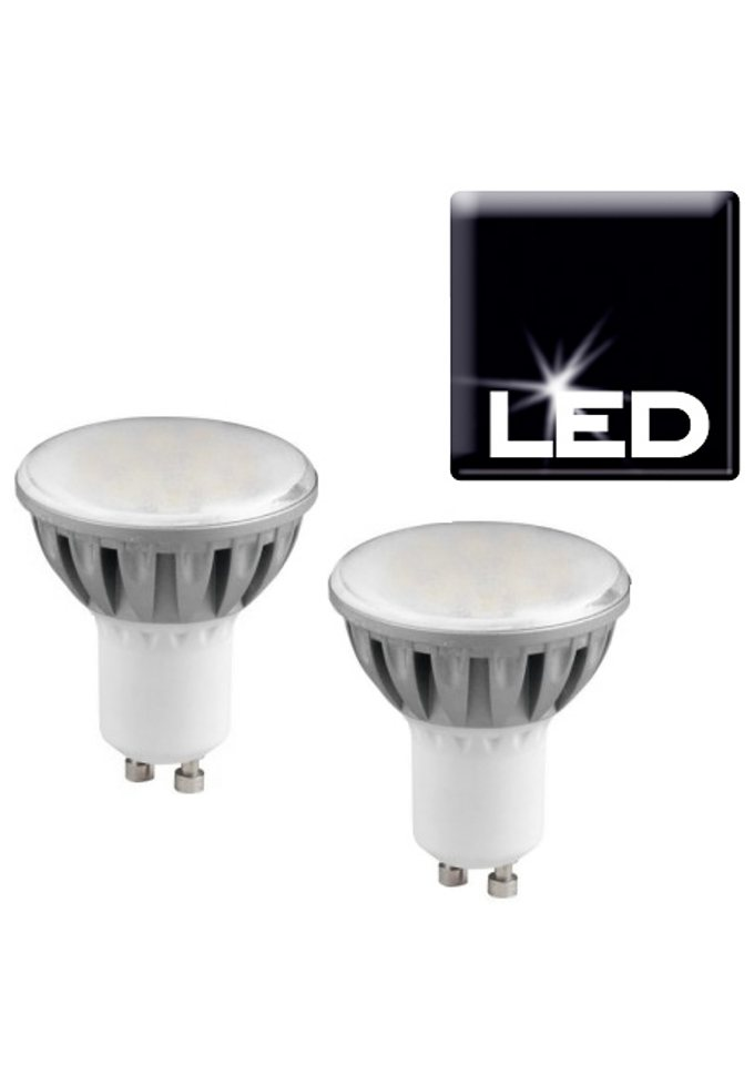 Set: LED-Leuchtmittel, Trio, »GU10«, 4,2 Watt (2er Set) in silberfarben