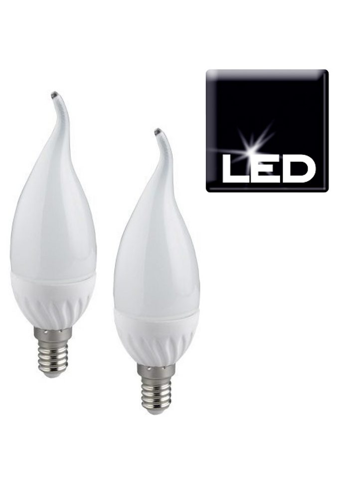Set: LED-Leuchtmittel, Trio, »E14 Windstoßkerze«, (2er Pack)