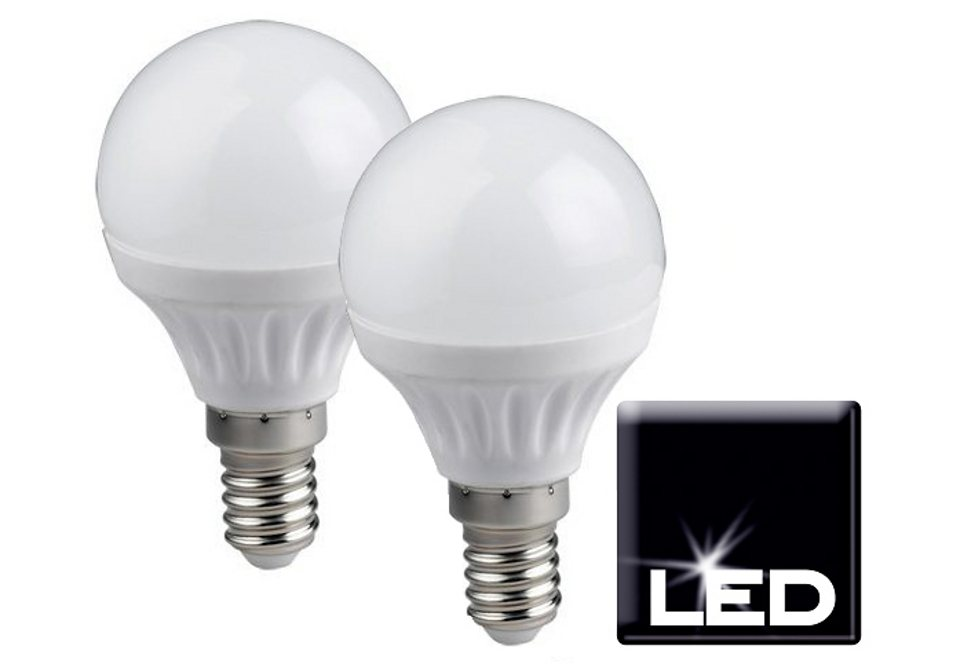 Set: LED-Leuchtmittel, Trio, »E14 Tropfenform«, (2er Pack) in silberfarben