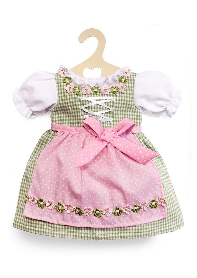 Heless® Puppenkleidung Größe 35-45 cm »Dirndl grün-rosa« in grün