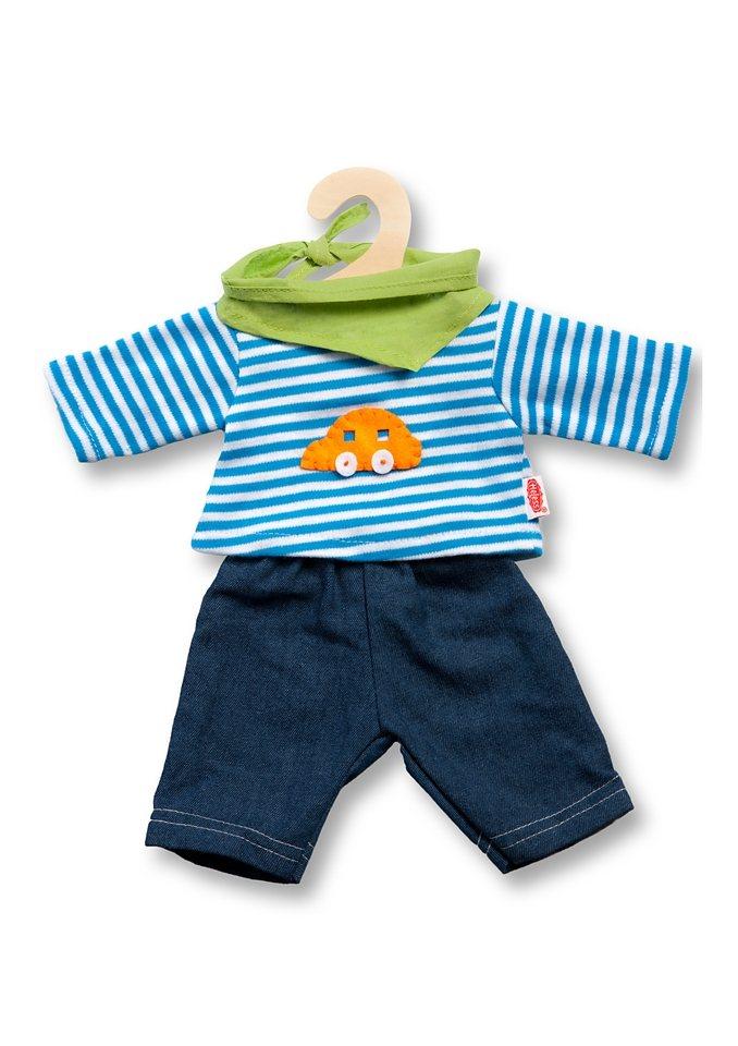 Heless® Puppenbekleidung (3tlg.) Größe 20-25 cm, 28-35 cm o. 34-45 cm »Jeans mit Streifenshirt« in blau