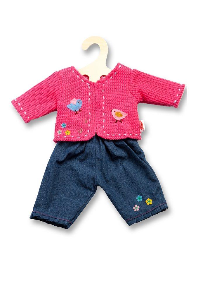 Heless® Puppenbekleidung (2tlg.) Größe 28-35 cm o. 35-45 cm »Jacke mit Jeans« in rosa