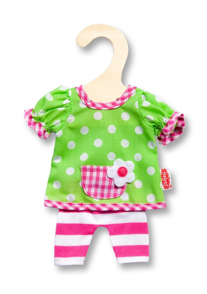 Heless® Puppenbekleidung (2tlg.) Größe 20-25 cm »Hängerchen mit Leggins« in grün