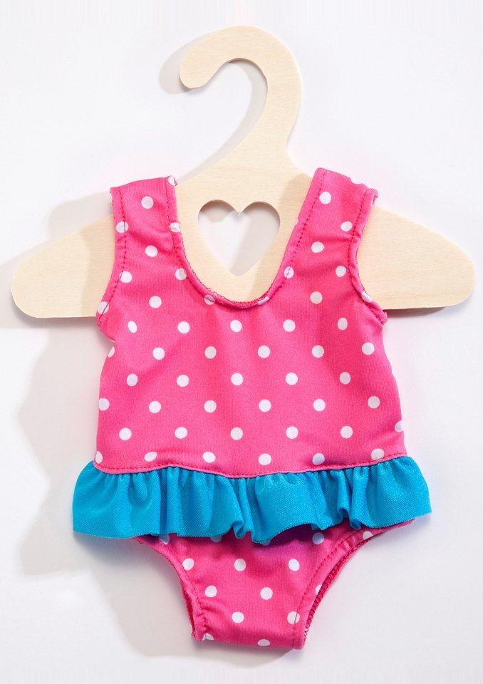 Heless® Puppenbekleidung (6tlg.) Größe 35-46 cm »Puppenschwimmset mit Badeanzug und Zubehör« in rosa