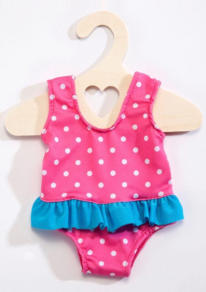 Heless® Puppenbekleidung (6tlg.) Größe 35-46 cm »Puppenschwimmset mit Badeanzug und Zubehör«