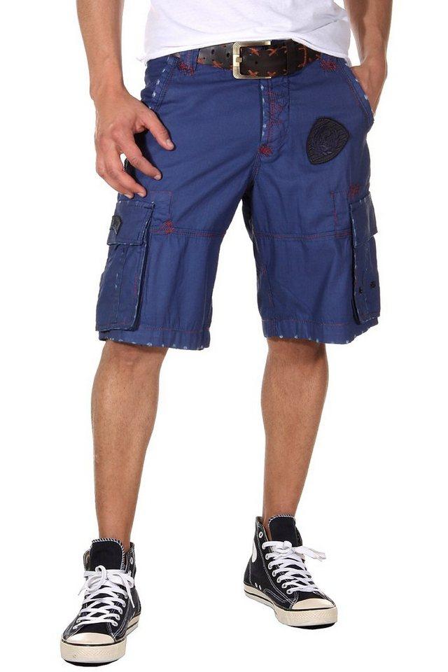 OBOY Streetwear Capri Shorts in blau