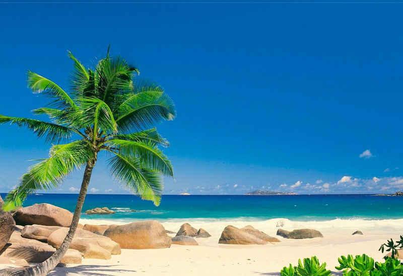 Komar Fototapete »Seychellen«, glatt, bedruckt, Meer, Strand, (Set), ausgezeichnet lichtbeständig
