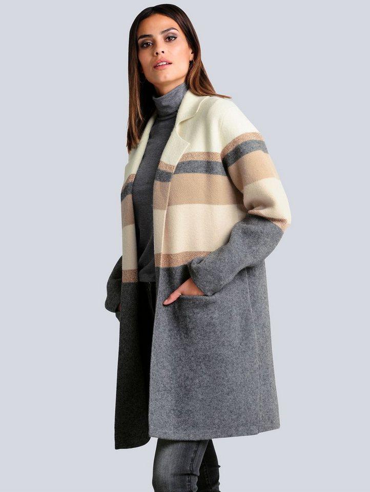 alba moda -  Strickjacke in modischer und komfortabler Longform