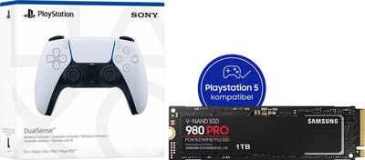 Samsung »980 PRO SSD 1TB + PS5 DualSense Controller« interne SSD (1 TB) 7000 MB/S Lesegeschwindigkeit, 5000 MB/S Schreibgeschwindigkeit, NVMe M.2)