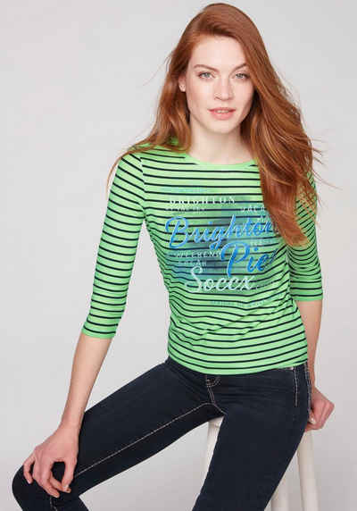SOCCX 3/4-Arm-Shirt mit Glitter Print