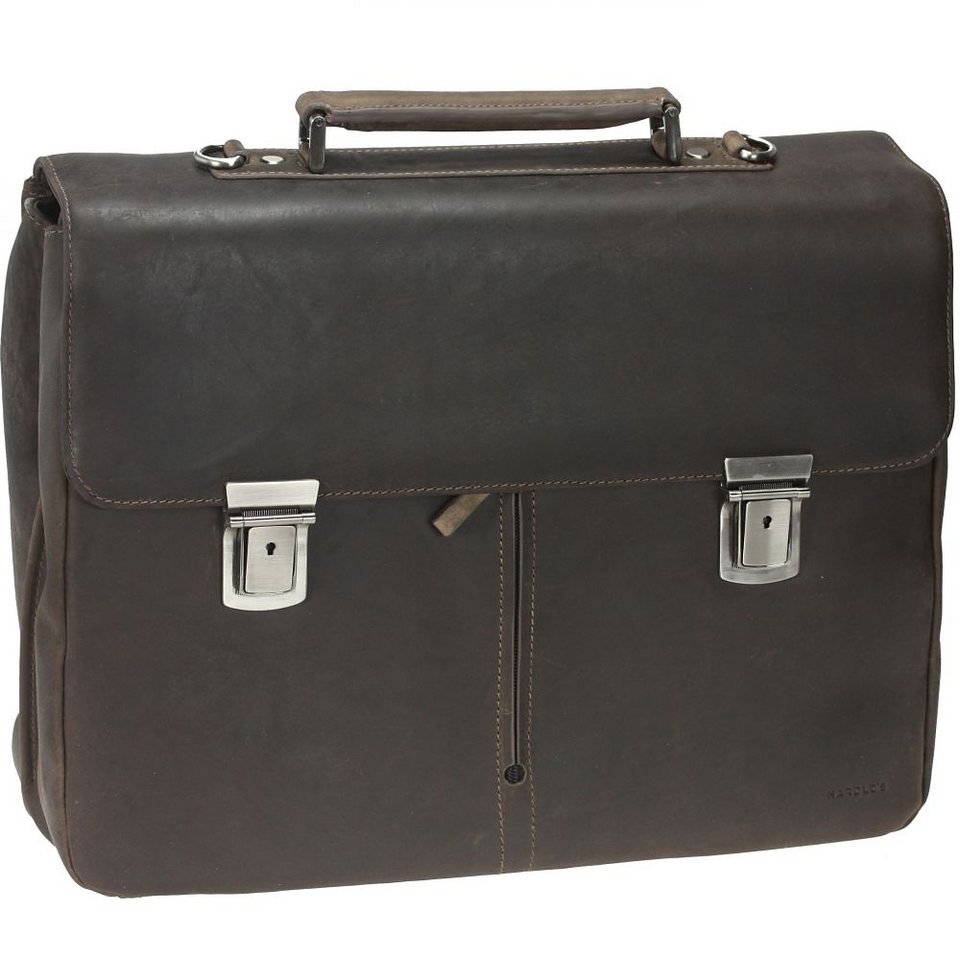 Harold's Antico Aktentasche Leder 41 cm Laptopfach in taupe