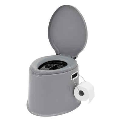 ECD Germany Campingtoilette »Mobile Toilette 5L tragbar, grau, bis 200 kg«