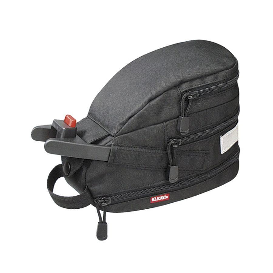 KlickFix Gepäckträgertasche »Contour Mini Satteltasche schwarz«