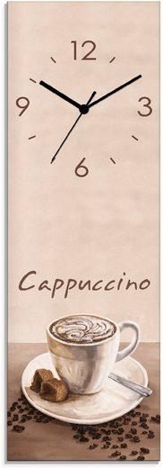 Artland Wanduhr »Cappuccino - Kaffee« (lautlos, ohne Tickgeräusche, nicht tickend, geräuschlos - wählbar: Funkuhr o. Quarzuhr, moderne Uhr für Wohnzimmer, Küche etc. - Stil: modern)