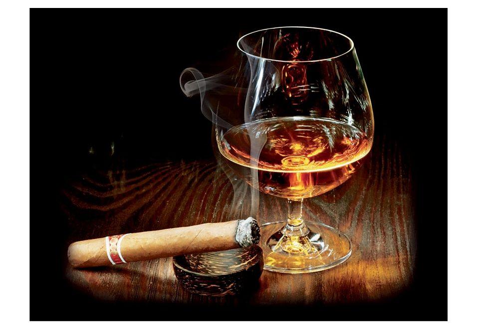 Premium collection by Home affaire, Glasbild, »Cigar and Cognac«, 80/60 cm