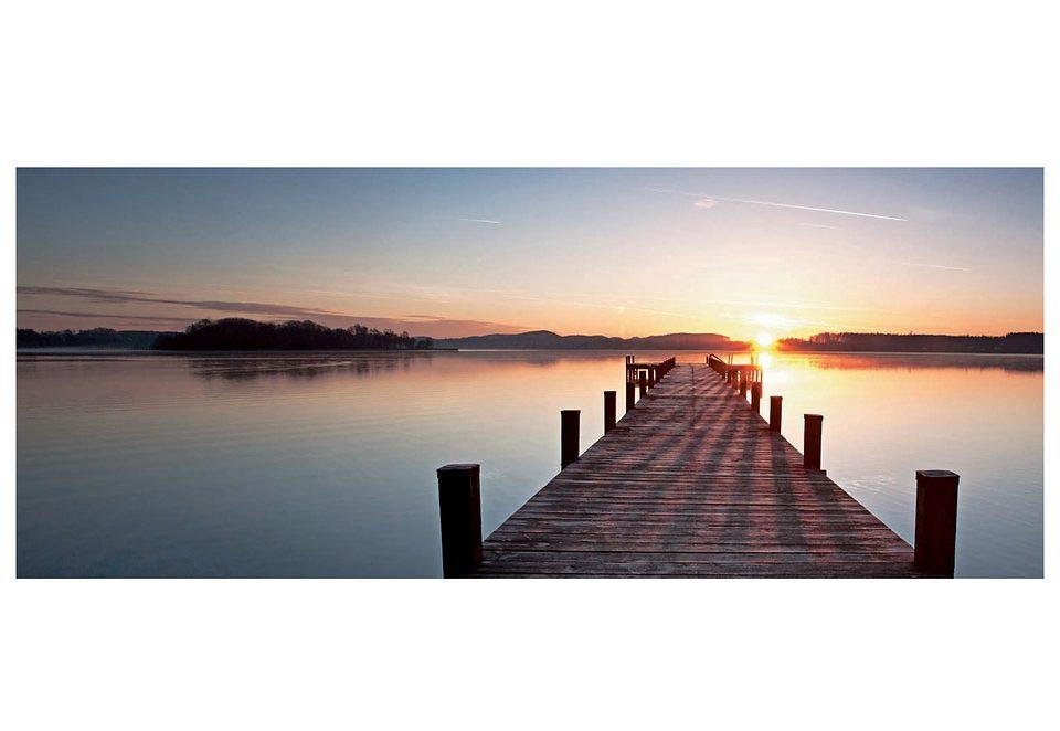 Glasbild, Artland, »Sonnenaufgang«, 100/50 cm