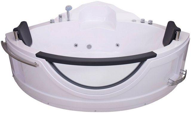 Badewannen und Whirlpools - Sanotechnik Whirlpool Badewanne »COSTA RICA«, (5 tlg), 150 150 68 cm, Eck Whirlpool mit Fenster  - Onlineshop OTTO