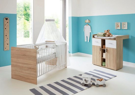 BMG Babymöbel-Set »Maxim«, (Set, 2-tlg), Bett + Wickelkommode