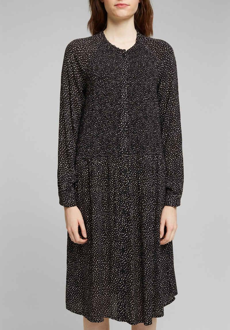 edc by Esprit A-Linien-Kleid durchgehend geknöpft