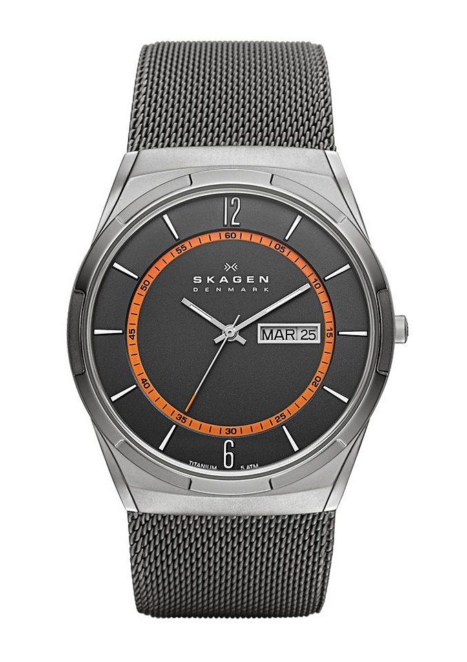 "Skagen, Armbanduhr, ""MELBYE, SKW6007"" in grau"