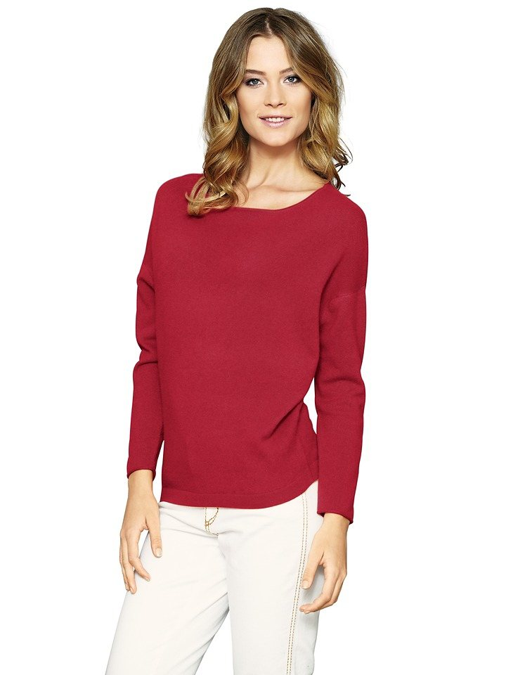 Oversized-Pullover in rot