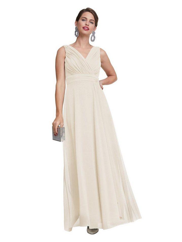 Festtagsmode - PATRIZIA DINI by Heine Abendkleid »Abendkleid« › beige  - Onlineshop OTTO