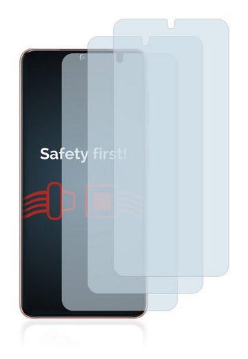 Savvies Schutzfolie »Panzerglas für Samsung Galaxy S21 5G«, (3 Stück), Schutzglas Echtglas 9H klar