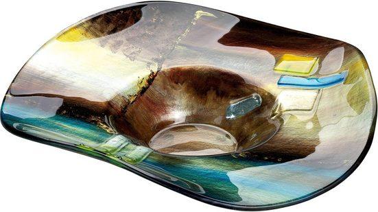 GILDE GLAS art Dekoschale »Campo« (1 Stück), aus Glas, Höhe ca. 13 cm