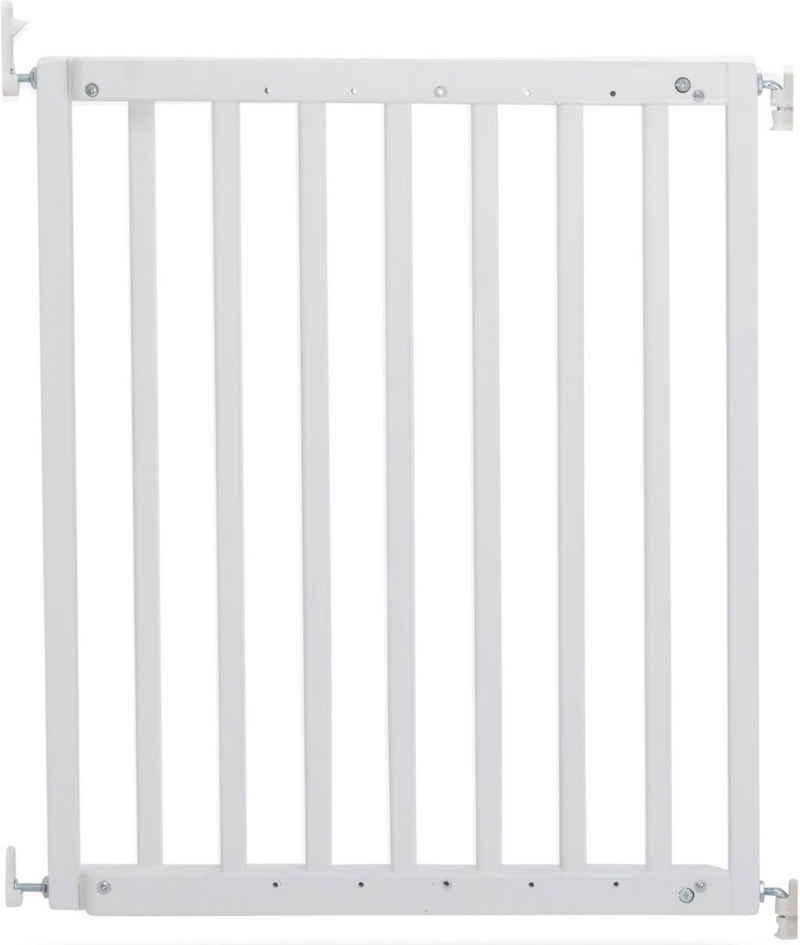 Geuther Türschutzgitter »Modilok, weiß«, Schwenk-Türschutzgitter; verstellbar von 63-103,5 cm