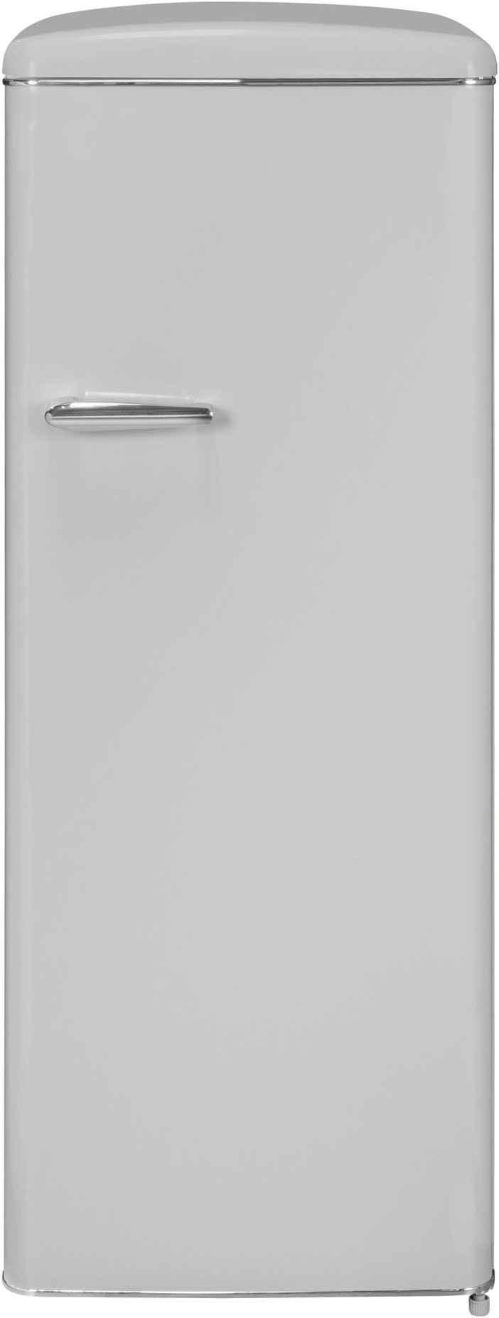 exquisit Kühlschrank RKS325-V-H-160F grau, 144 cm hoch, 55 cm breit